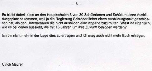 """Maurers letzte Worte an die SPD: """"...und ich mag auch nicht mehr Euch ertragen"""""""