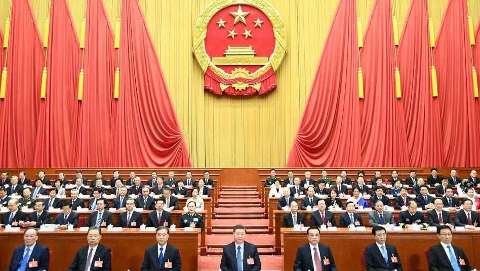 Abschlusskundgebung beim Volkskongress in Peking