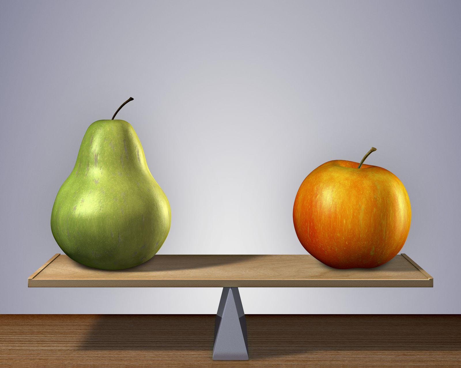 NICHT MEHR VERWENDEN! - Apfel / Birne / Waage