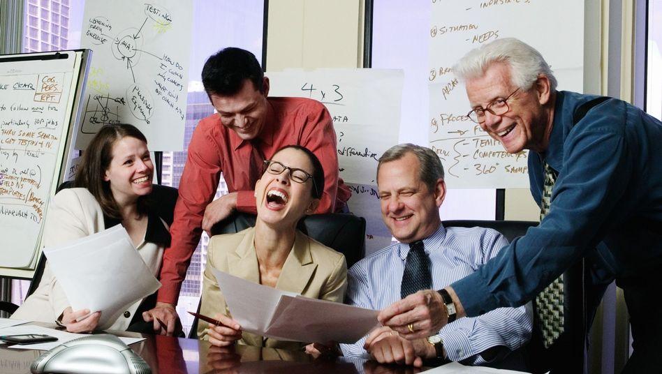 Das fröhliche Büro: Lachen ist gut - am besten nicht auf dem Rücken anderer