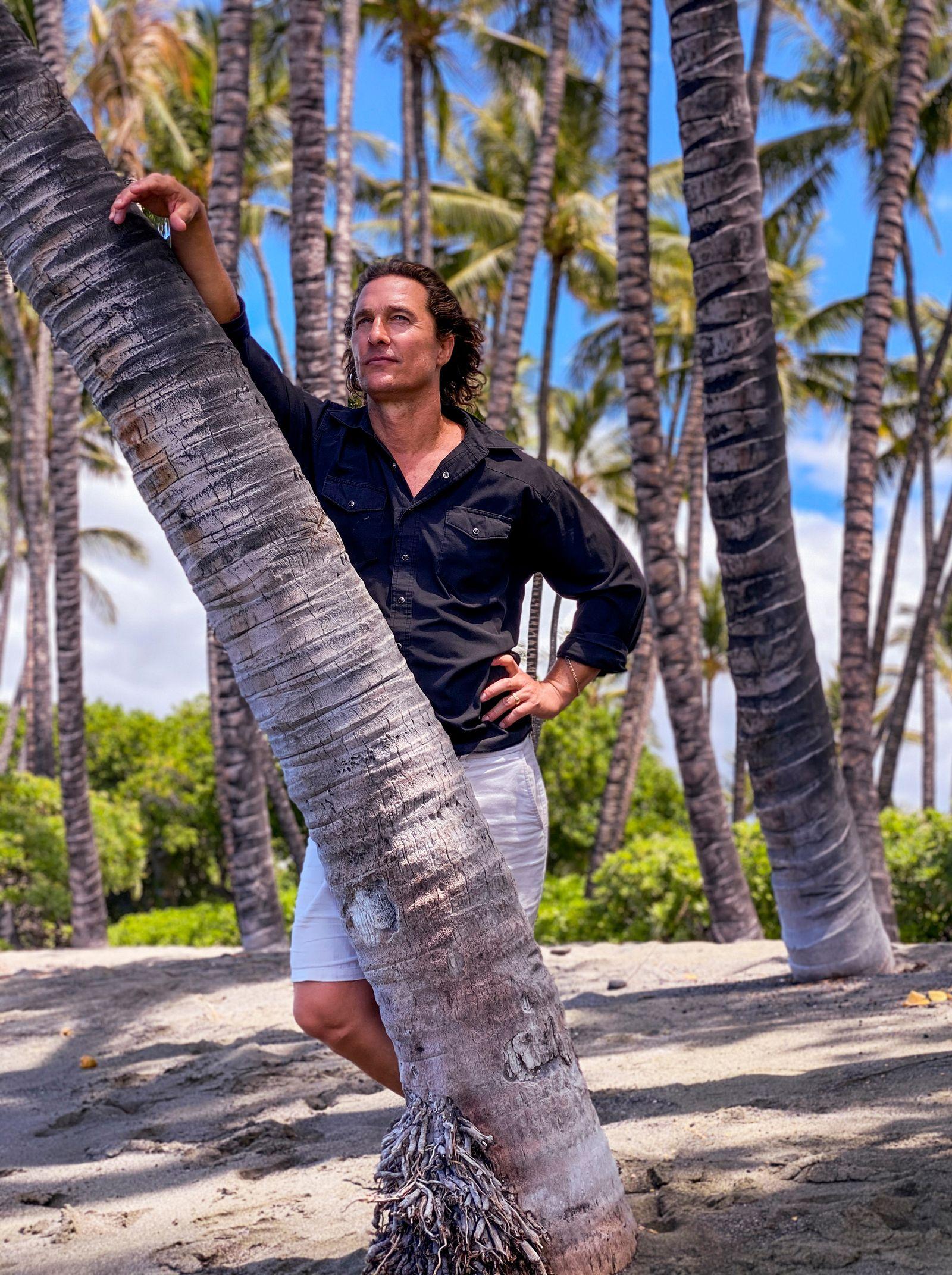 Matthew McConaughey photographed remotely, Sept. 14, 2020. (Devin Oktar Yalkin/The New York Times)