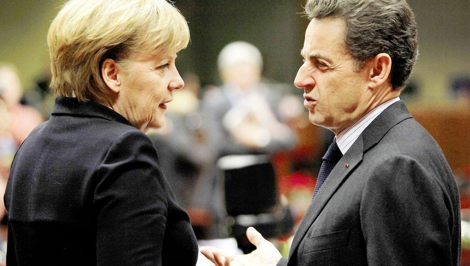 Kanzlerin Merkel, Präsident Sarkozy: Wechselnde Antagonismen und Bündnisse