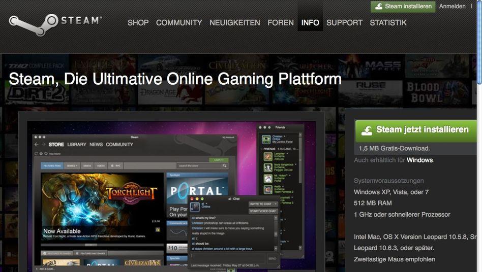 Onlinedienst Steam: Von Hackern angegriffen