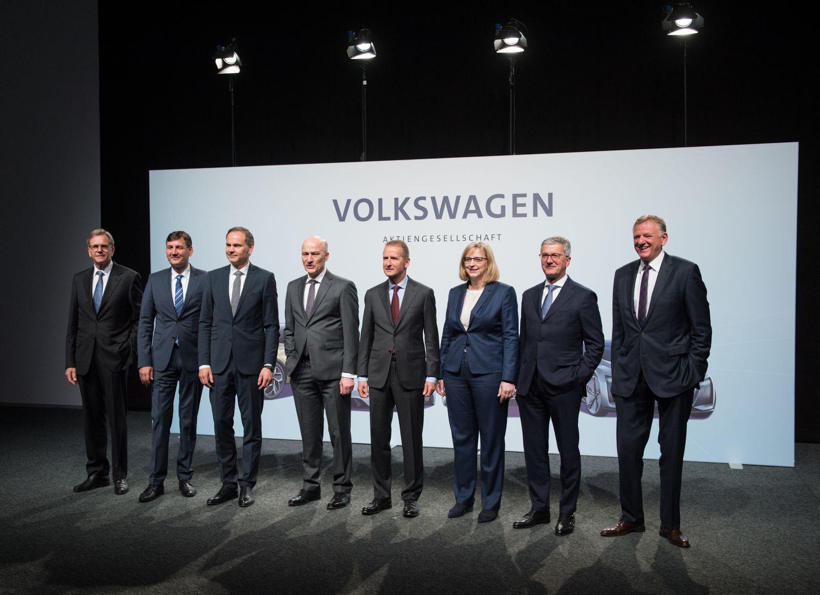 EINMALIGE VERWENDUNG VW - Vorstand 2018