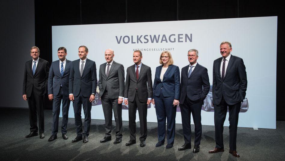 Volkswagen-Vorstand im Mai 2018: Im Schnitt sechs Millionen Euro Vergütung - bei den Mitarbeitern sind es 62.000 Euro