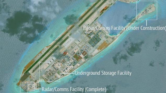 Satellitenbild von Fiery Cross Reef