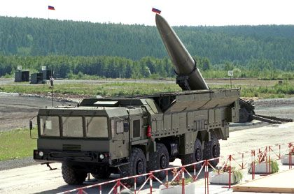 A Russian Iskander: The country says it is backing away from its plan to deploy missiles in Kaliningrad.