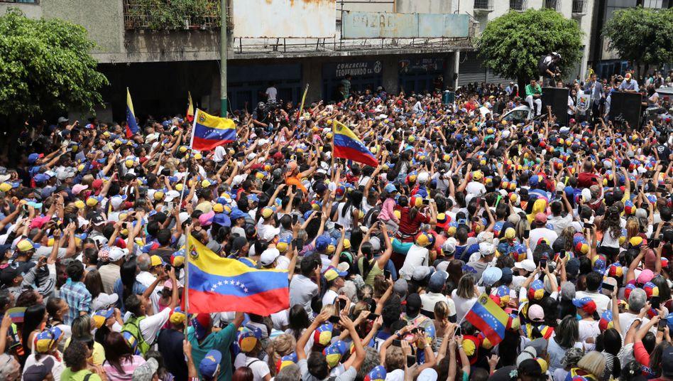 Proteste in Los Teques, Venezuela