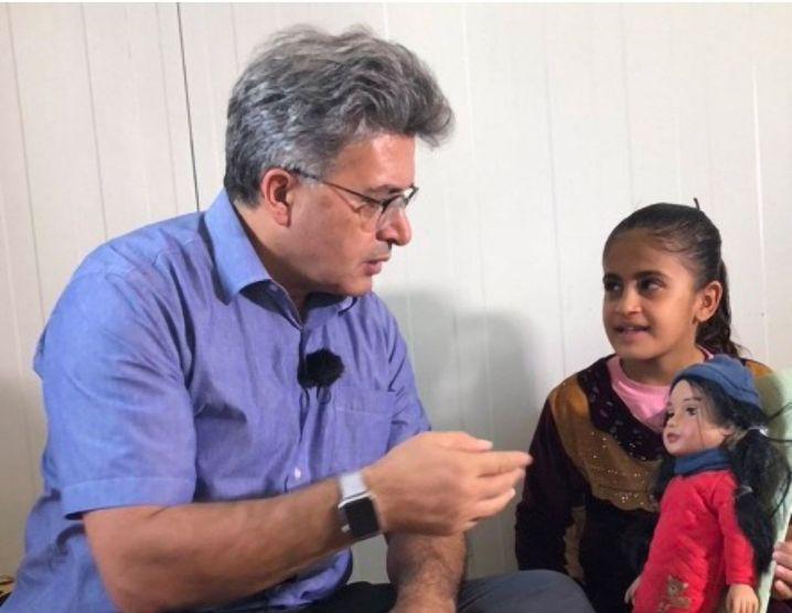 Therapist Jan Ilhan Kizilhan speaks to Media.