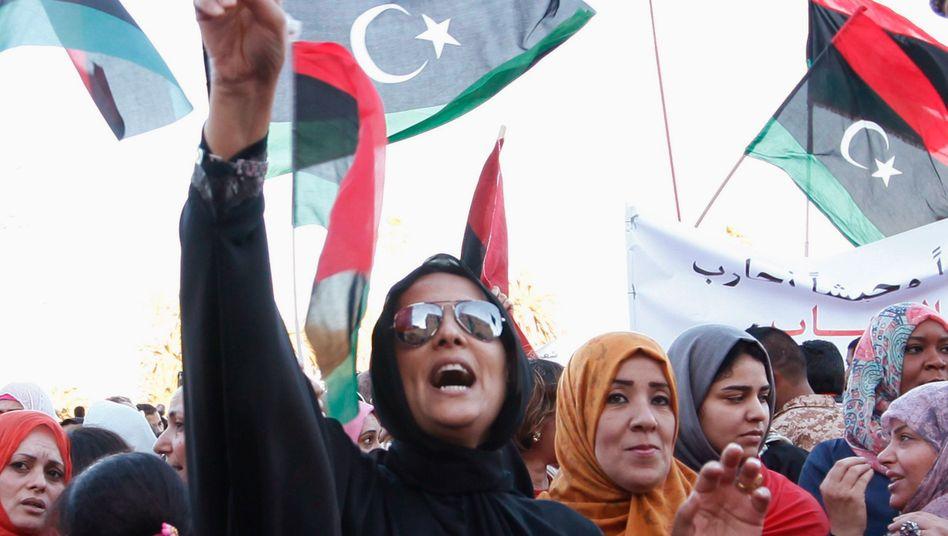 Pro-Haftar-Demonstration in Tripolis: ein zweigeteiltes Land