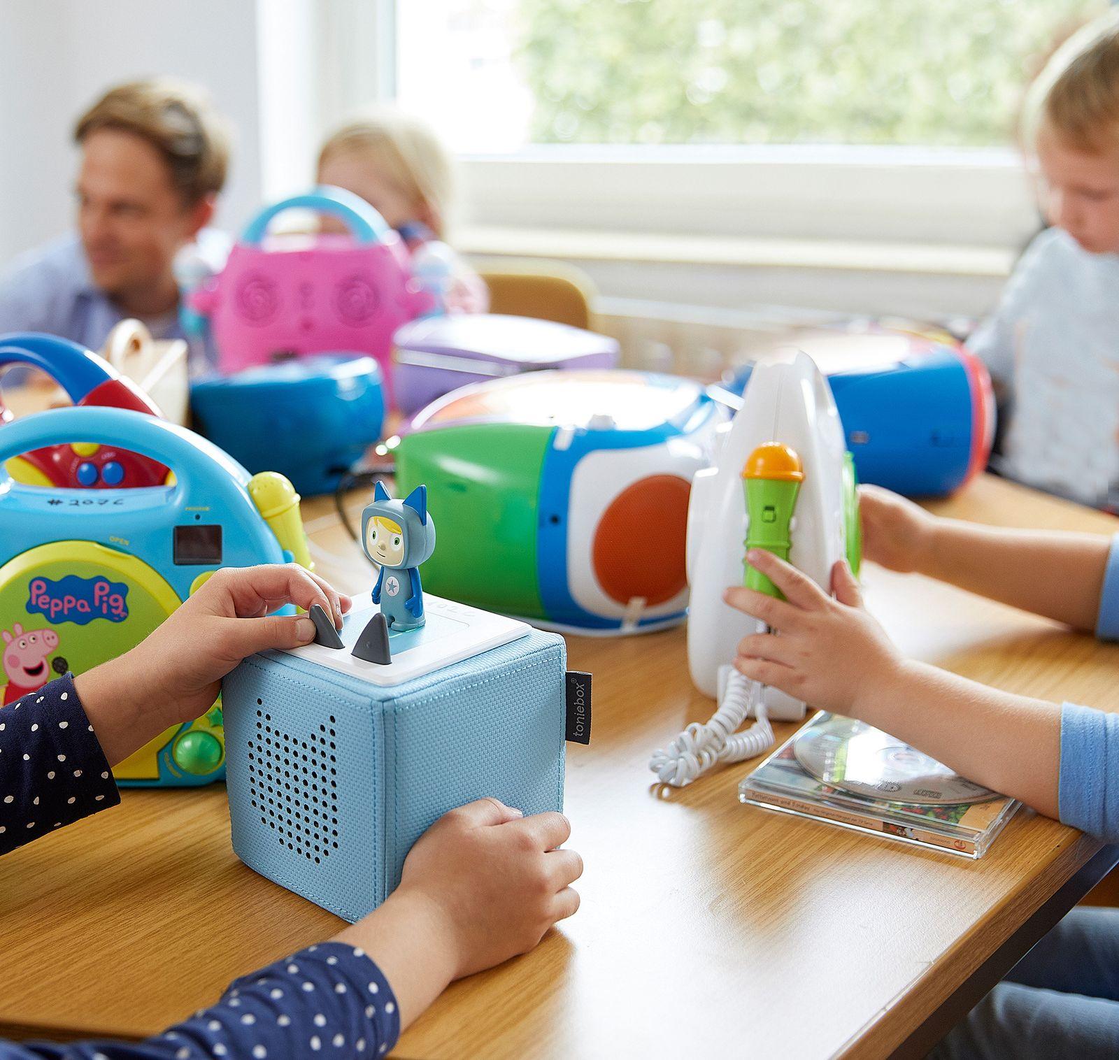 EINMALIGE VERWENDUNG Stiftung Warentest/ Kindermusikspieler