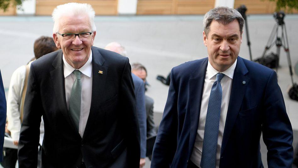 Ministerpräsidenten Kretschmann, Söder (Juni 2019): »Fast der Beginn von Sondierungsgesprächen«