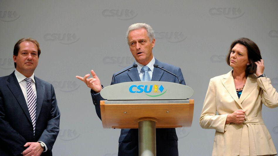 """CSU-Politiker Dobrindt, Ramsauer, Aigner: """"Einhellige Zustimmung"""""""