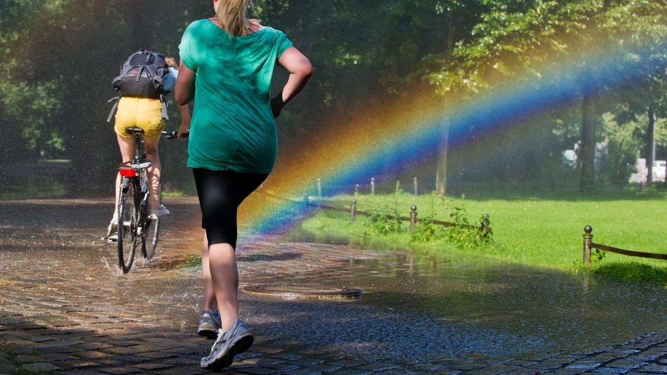 Joggen in der Sonne: Lieber das Limit senken