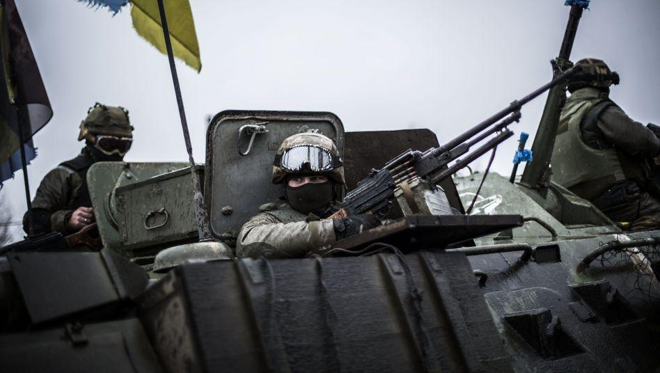 Ukrainische Soldaten in der Region Donezk: Künftig Waffen von den USA?