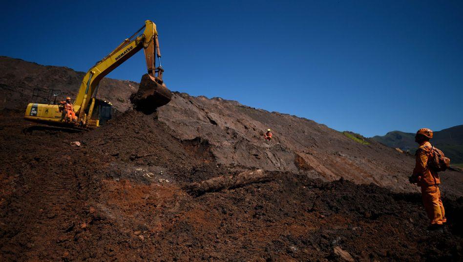 Unglücksstelle in Córrego doFeijão, Brasilien: Unter anderem der TÜV Süd muss sich für die Folgen des Dammbruchs verantworten