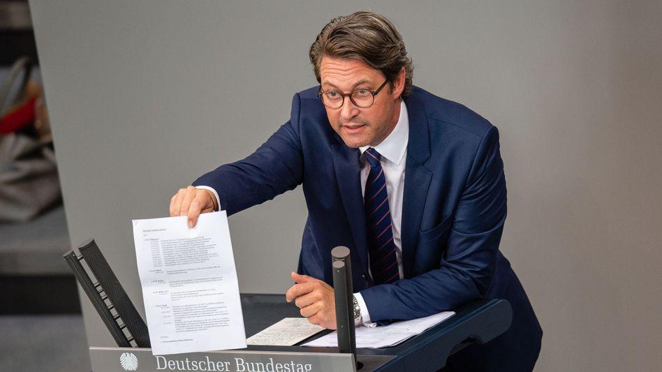 Andreas Scheuer: Interne Dokumente legen nahe, dass Scheuer bei früheren Befragungen im Parlament gelogen hat