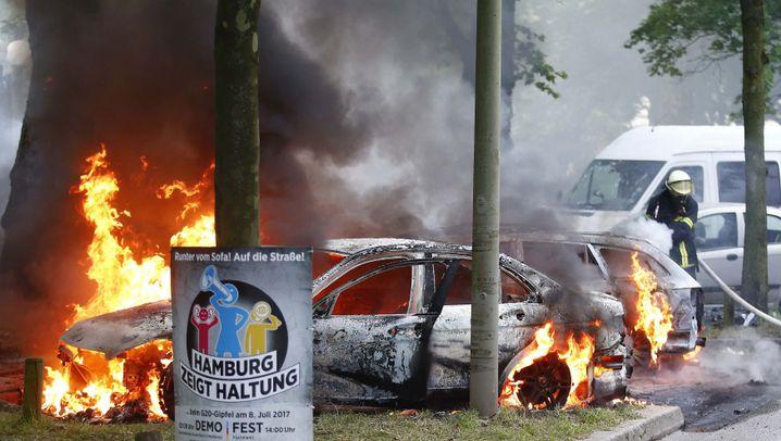 G20-Gipfel: Brennende Autos und Blockaden