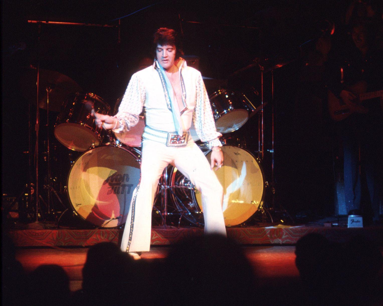 Frauen T-Shirt Foto von Star Ber/ühmte S/änger Elvis Presley Alte Musik Original 7