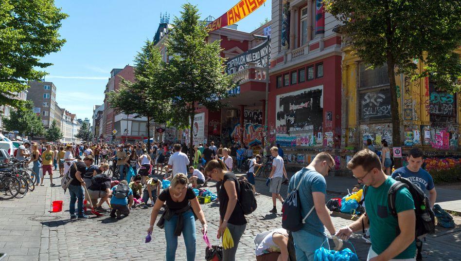 """Aktion """"Hamburg räumt auf"""" nach dem G20-Gipfel"""