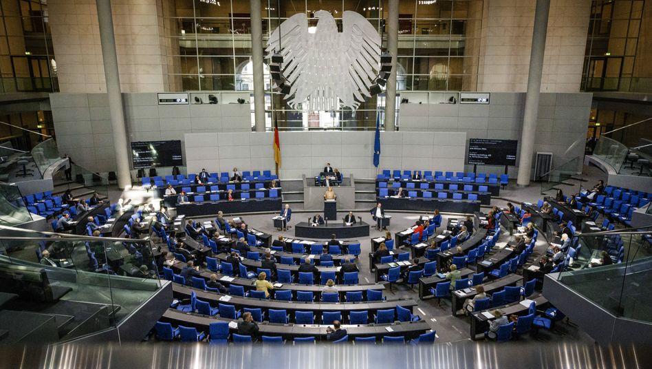 Eine Sitzung im Bundestag (Symbolbild)