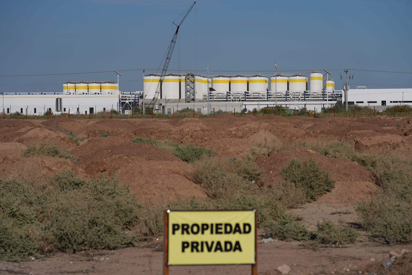 A general view shows the construction of the brewery of U.S. company Constellation Brands Inc, in Mexicali