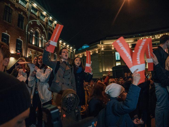 """Nawalny-Anhänger in Sankt Petersburg: """"Alle kann man nicht verhaften"""""""