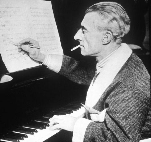 Komponist Ravel um 1928