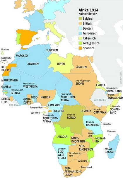 Afrika 1914