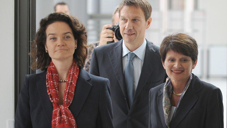 Telekom-Manager Nemat, Obermann, Schick (ab Mai): Bewegung bei Dax-Konzernen
