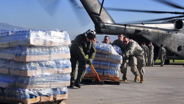 US-Hilfe für Haiti: Mit Mensch und Maschine