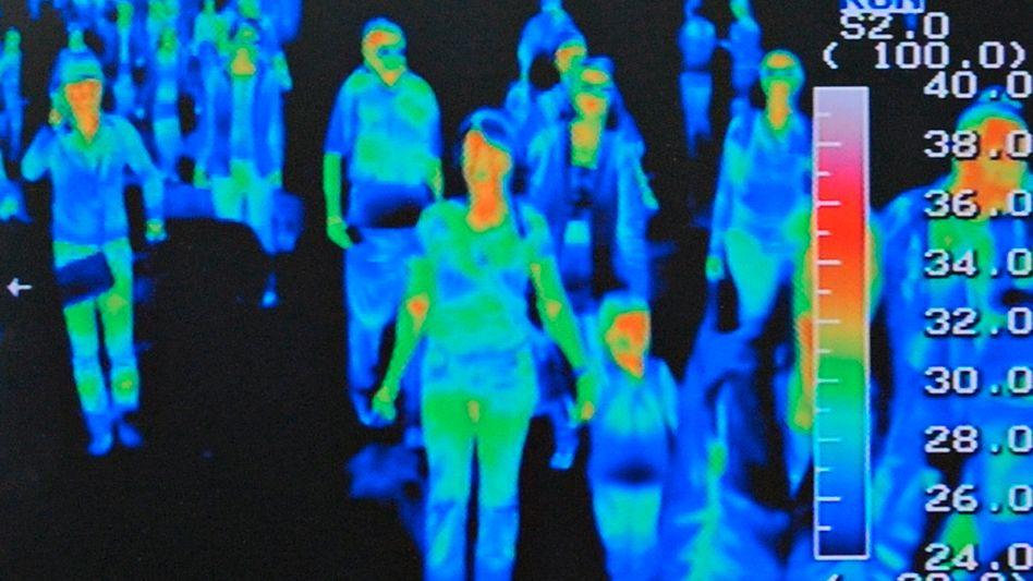 Wärmebild von Flugpassagieren (am Flughafen von Seoul, April 2009): Debatte um Sicherheit im Zugverkehr