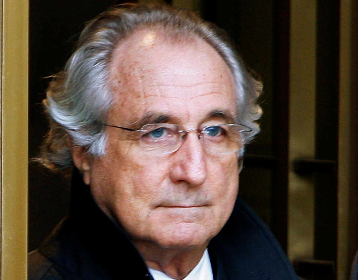 FILE PHOTO: File photo of Bernard Madoff exiting the Manhattan federal court house in New York
