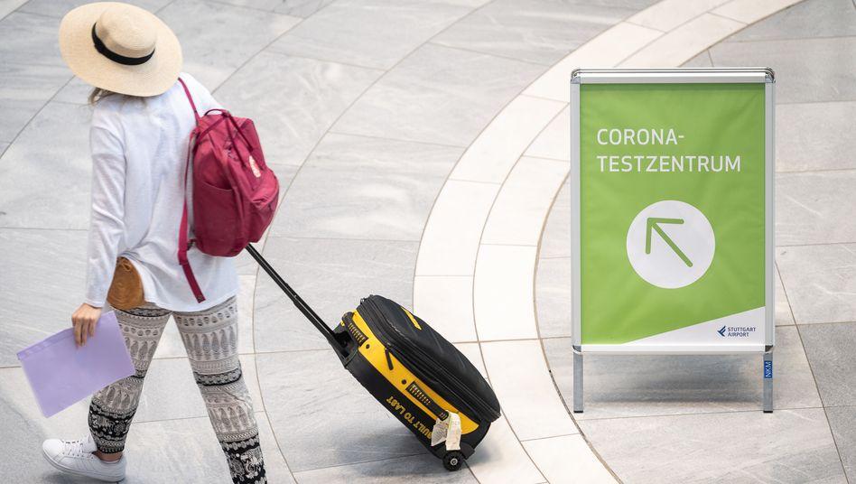 Corona-Testzentrum am Stuttgarter Flughafen: Vorerst Schnelltests, keine Impfung für Touristen