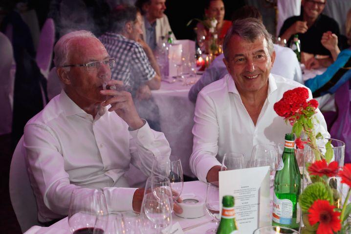 WM-Macher Beckenbauer, Niersbach im Juli 2015