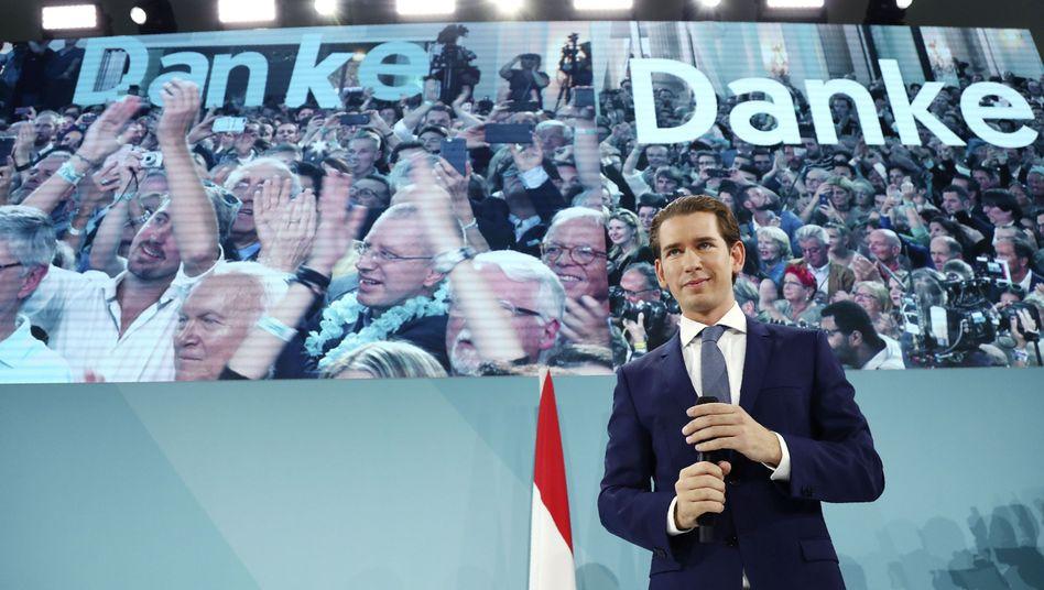Ex- und sehr wahrscheinlich künftiger Kanzler Sebastian Kurz