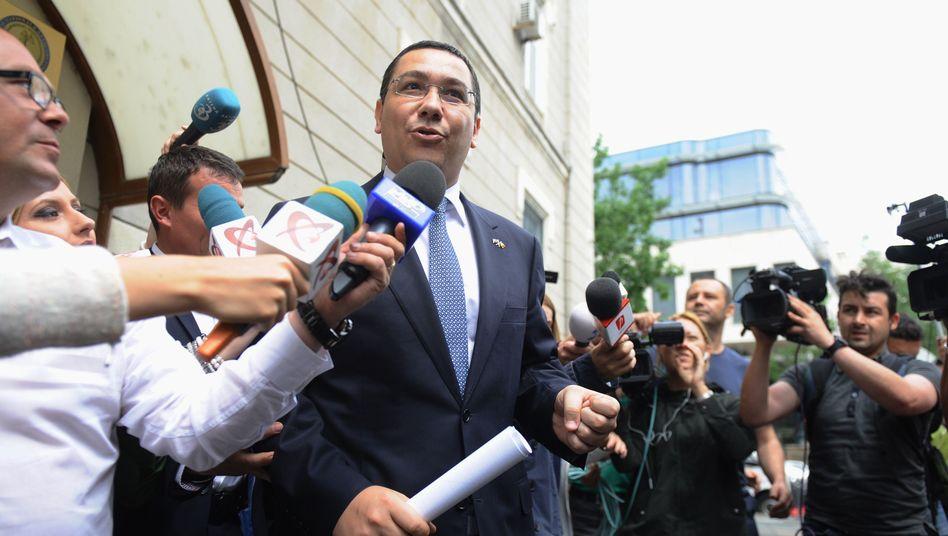 Ponta vor der Antikorruptionsbehörde in Bukarest: Ermittlungen wegen Korruption