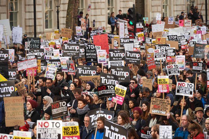 Anti-Trump-Protest in London