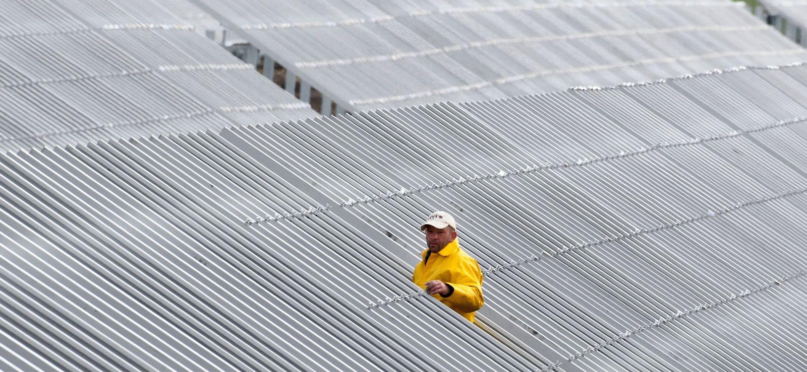 Solarpark im Aufbau