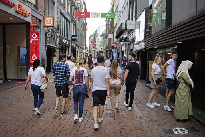 Die Kalverstraat in Amsterdam