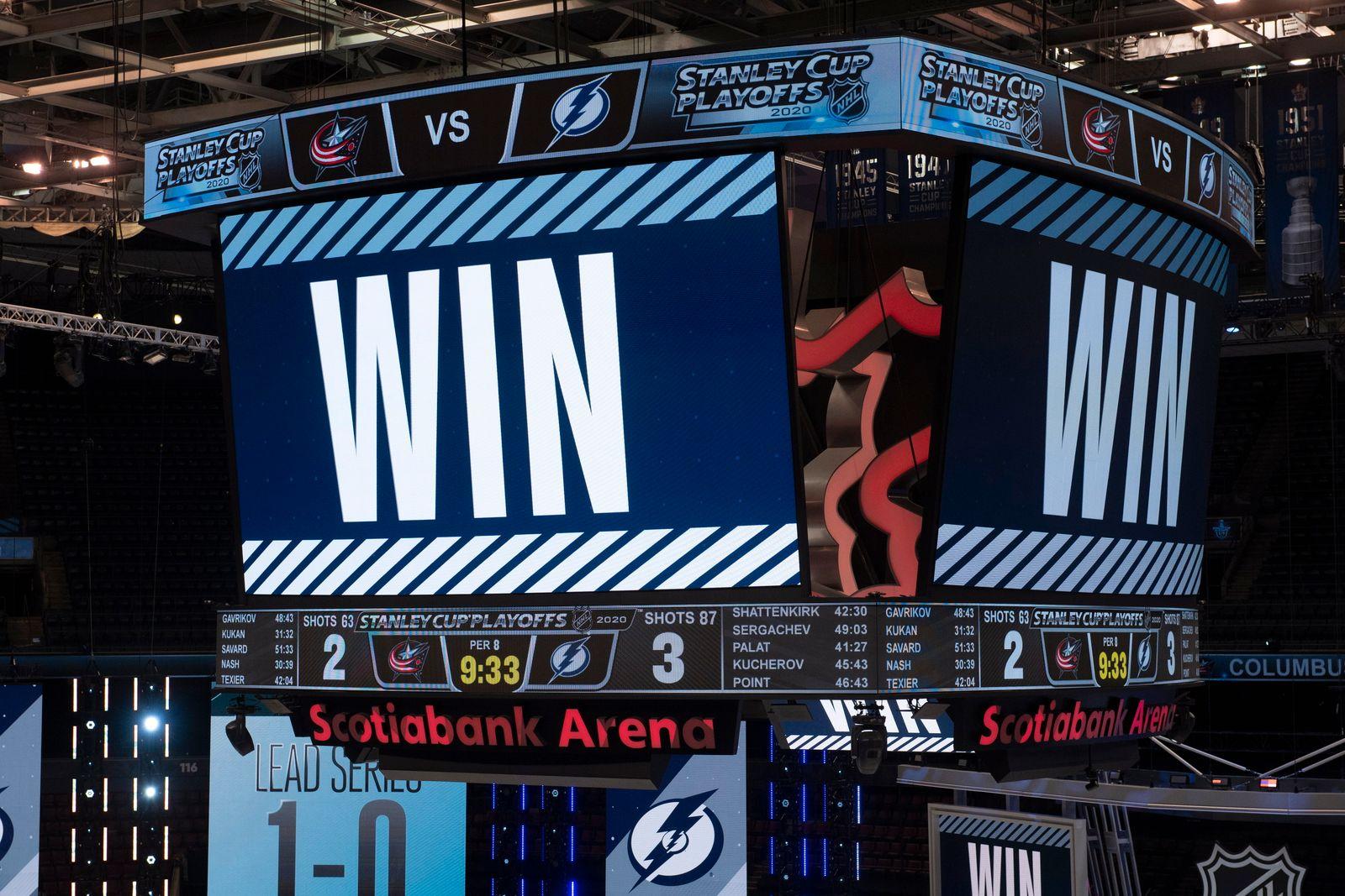 Lightning Blue Jackets Hockey