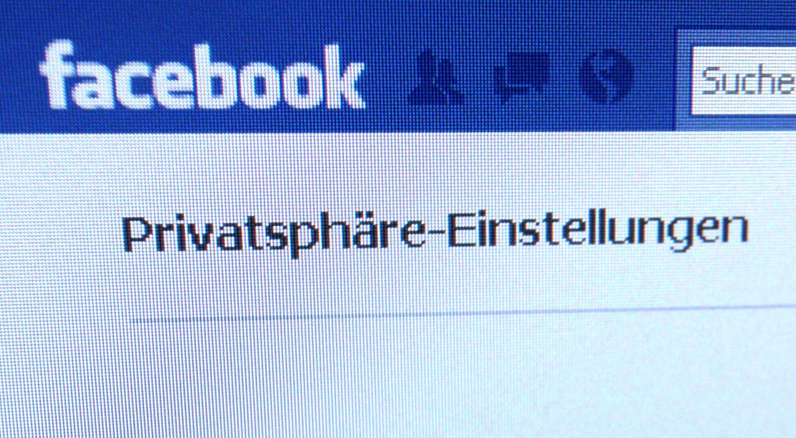NICHT VERWENDEN Facebook Privatsphäre