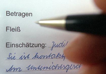Kopfnoten: Sachsen führte sie wieder ein, NRW jetzt auch