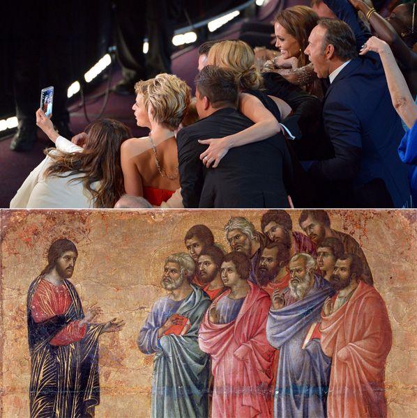 EINMALIGE VERWENDUNG Kombo Oscar-Selfie / Jesus-Jünger