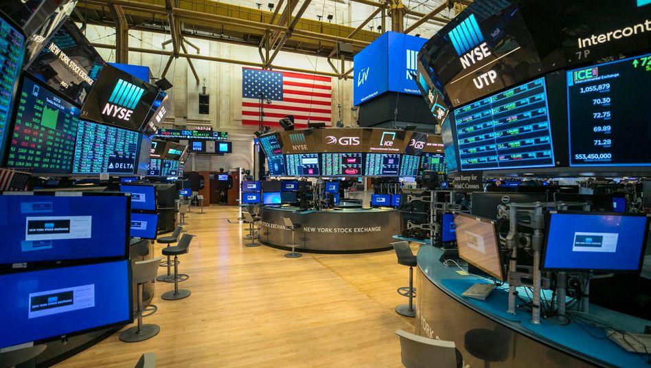 Handelssaal an der New Yorker Börse: Wegen der Corona-Pandemie ist der Parketthandel erstmals seit 228 Jahren vorübergehend geschlossen