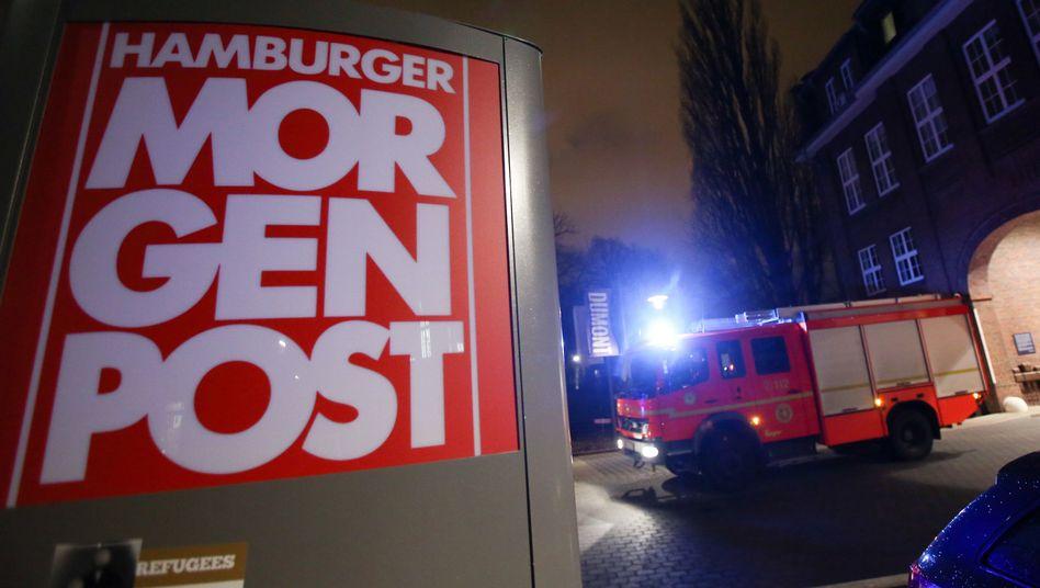 """Gebäude der """"Hamburger Morgenpost"""" (Archiv): Feuerwehreinsatz nach Brandanschlag"""