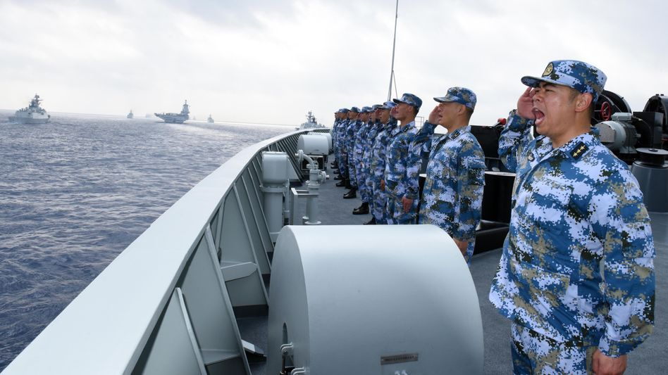 Chinesische Marinesoldaten im Südchinesischen Meer