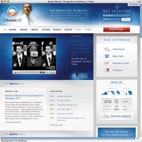 Internet-Auftritt von Barack Obama
