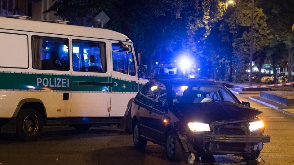 Unfallstelle in Berlin-Charlottenburg