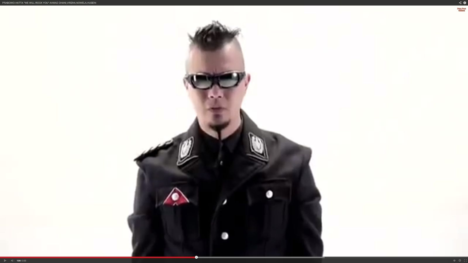 NUR ALS ZITAT Wahlkampfvideo Indonesien Himmler-Uniform